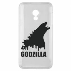 Чехол для Meizu 15 Lite Godzilla and city - FatLine