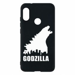 Чехол для Mi A2 Lite Godzilla and city - FatLine
