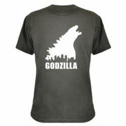 Камуфляжная футболка Godzilla and city - FatLine