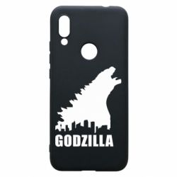 Чехол для Xiaomi Redmi 7 Godzilla and city - FatLine