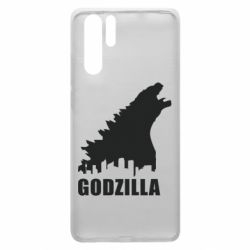 Чехол для Huawei P30 Pro Godzilla and city - FatLine