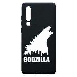 Чехол для Huawei P30 Godzilla and city - FatLine