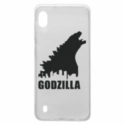 Чехол для Samsung A10 Godzilla and city - FatLine