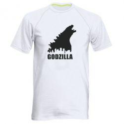 Мужская спортивная футболка Godzilla and city - FatLine