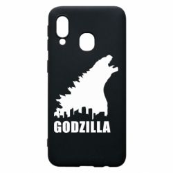 Чехол для Samsung A40 Godzilla and city - FatLine