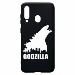 Чехол для Samsung A60 Godzilla and city - FatLine