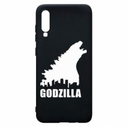 Чехол для Samsung A70 Godzilla and city - FatLine