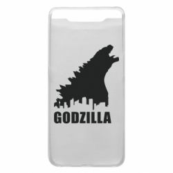 Чехол для Samsung A80 Godzilla and city - FatLine