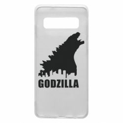 Чехол для Samsung S10 Godzilla and city - FatLine