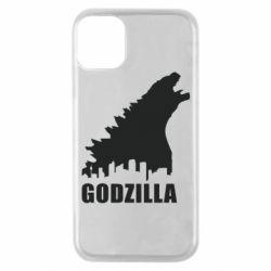 Чохол для iPhone 11 Pro Godzilla and city