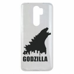 Чехол для Xiaomi Redmi Note 8 Pro Godzilla and city