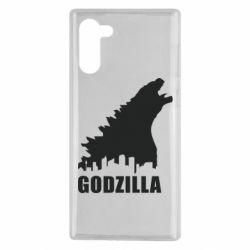 Чохол для Samsung Note 10 Godzilla and city