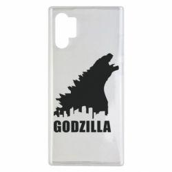 Чохол для Samsung Note 10 Plus Godzilla and city