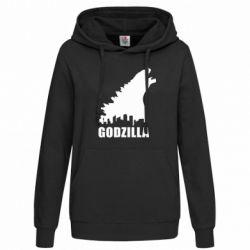 Женская толстовка Godzilla and city - FatLine