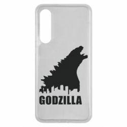 Чехол для Xiaomi Mi9 SE Godzilla and city