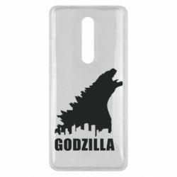 Чехол для Xiaomi Mi9T Godzilla and city