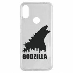 Чехол для Xiaomi Redmi Note 7 Godzilla and city