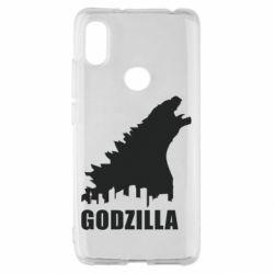 Чехол для Xiaomi Redmi S2 Godzilla and city