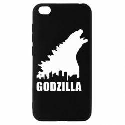 Чехол для Xiaomi Redmi Go Godzilla and city