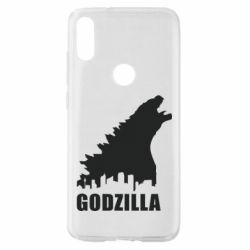 Чехол для Xiaomi Mi Play Godzilla and city