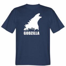 Мужская футболка Godzilla and city - FatLine