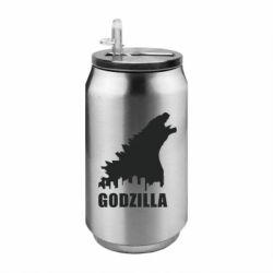 Термобанка 350ml Godzilla and city