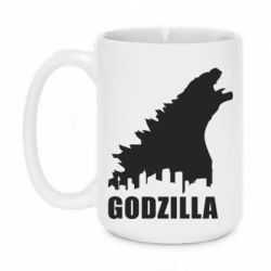 Кружка 420ml Godzilla and city - FatLine