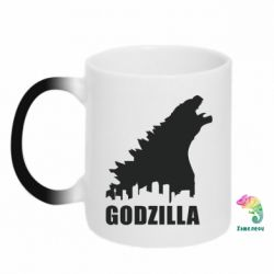 Кружка-хамелеон Godzilla and city - FatLine