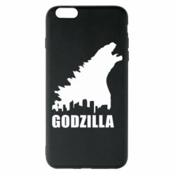 Чехол для iPhone 6 Plus/6S Plus Godzilla and city - FatLine