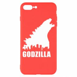 Чехол для iPhone 7 Plus Godzilla and city - FatLine