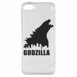 Чехол для iPhone5/5S/SE Godzilla and city - FatLine