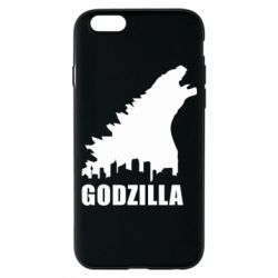 Чехол для iPhone 6/6S Godzilla and city - FatLine