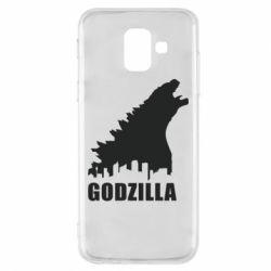 Чехол для Samsung A6 2018 Godzilla and city - FatLine