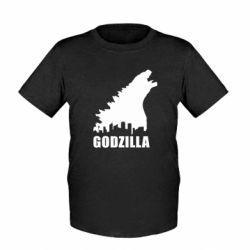 Детская футболка Godzilla and city - FatLine