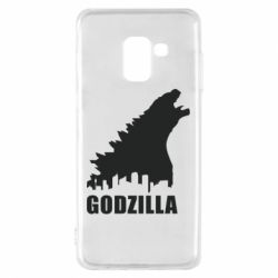 Чехол для Samsung A8 2018 Godzilla and city - FatLine