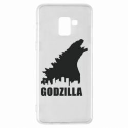 Чехол для Samsung A8+ 2018 Godzilla and city - FatLine