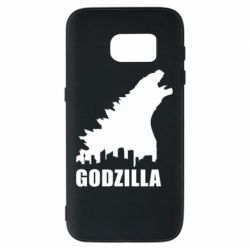 Чехол для Samsung S7 Godzilla and city - FatLine