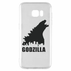 Чехол для Samsung S7 EDGE Godzilla and city - FatLine