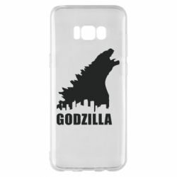 Чехол для Samsung S8+ Godzilla and city - FatLine