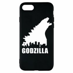 Чехол для iPhone 8 Godzilla and city - FatLine