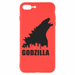 Чехол для iPhone 8 Plus Godzilla and city - FatLine