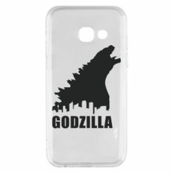 Чехол для Samsung A3 2017 Godzilla and city - FatLine