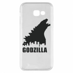 Чехол для Samsung A5 2017 Godzilla and city - FatLine