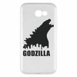 Чехол для Samsung A7 2017 Godzilla and city - FatLine