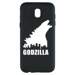 Чехол для Samsung J5 2017 Godzilla and city - FatLine