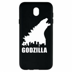 Чехол для Samsung J7 2017 Godzilla and city - FatLine