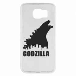 Чехол для Samsung S6 Godzilla and city - FatLine