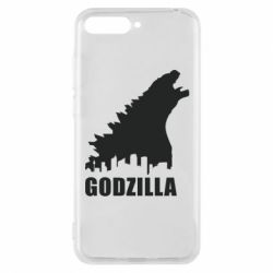 Чехол для Huawei Y6 2018 Godzilla and city - FatLine