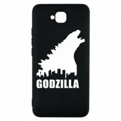 Чехол для Huawei Y6 Pro Godzilla and city - FatLine
