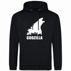 Мужская толстовка Godzilla and city - FatLine